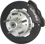 Solid rotor with black caliper