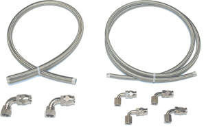 Stainless Steel Braided - Power Steering Hose Kit